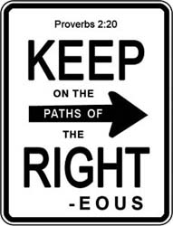 Keep Right Window Cling